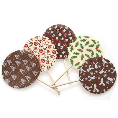 Milk Chocolate Snowflake Transfer Lolly
