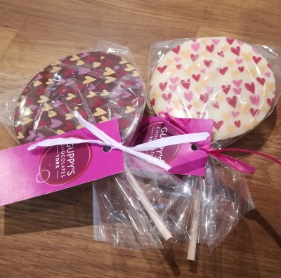 Milk Chocolate Heart Transfer Lolly