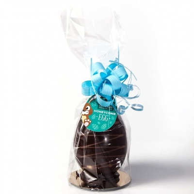 Medium Dark Chocolate Honeycomb Easter Egg