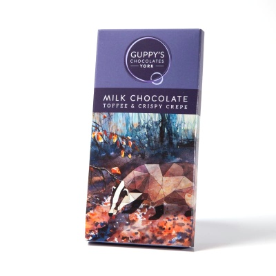 Milk Chocolate with Toffee and Crispy Crepe
