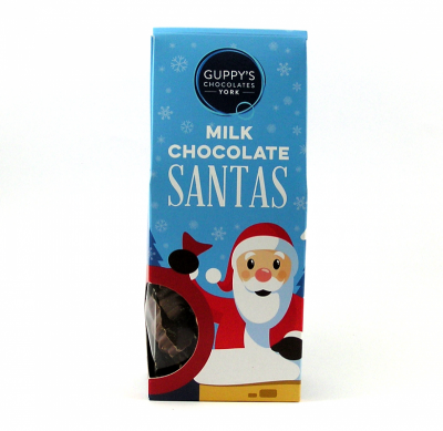 Milk Chocolate Santa Shapes
