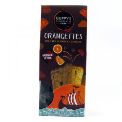 Orangettes Enrobed in Dark Chocolate