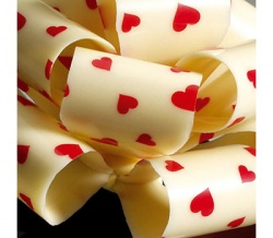 White Chocolate Heart Transfer Lolly